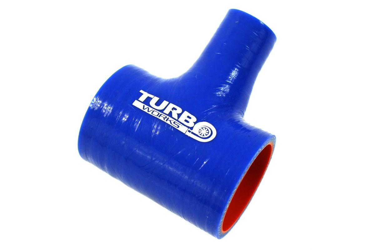 Łącznik T-Piece TurboWorks Pro Blue 77-9mm - GRUBYGARAGE - Sklep Tuningowy